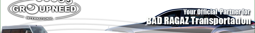 Airport transfer to Bad Ragaz from Zurich with Limousine / Minibus / Helicopter / Limousine